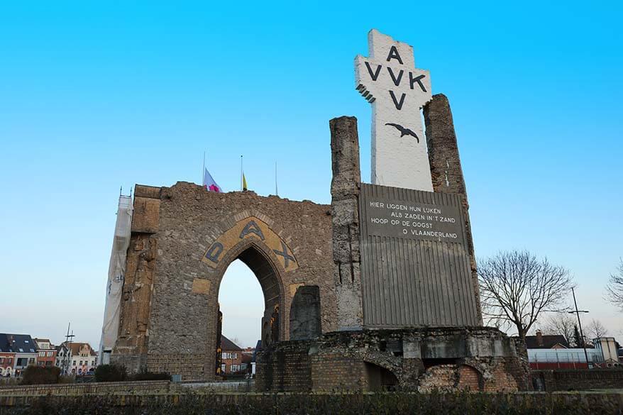 Gate of Peace at the Yser Tower in Diksmuide Belgium
