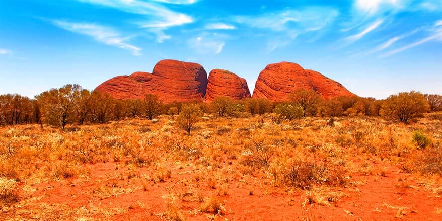Kata Tjuta or the Olgas in Australian Outback