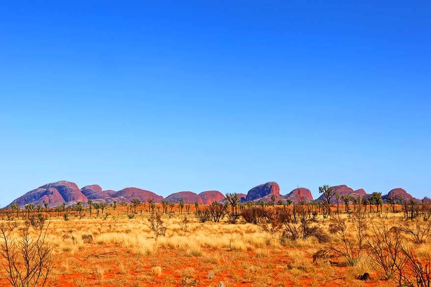View from Kata Tjuta Dune Viewing Area in Outback Australia