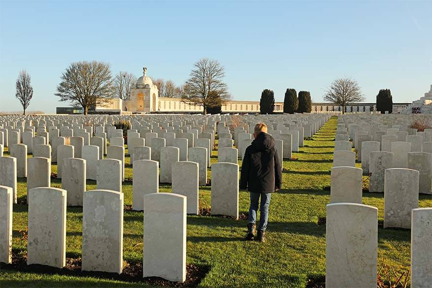 World War I battlefields and Ypres day trip with kids - Tyne Cot