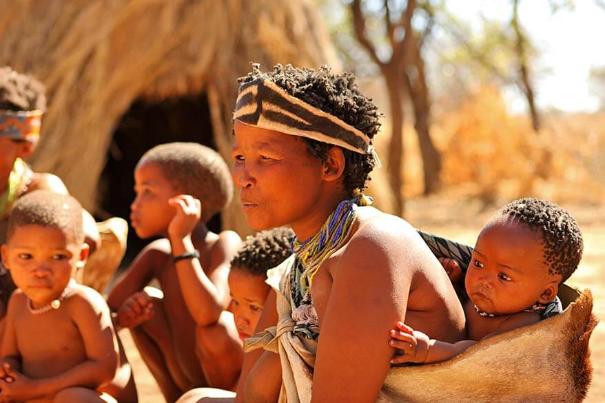Meeting the San people in Namibia