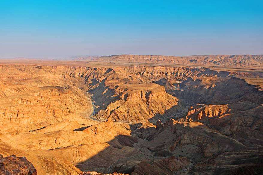 Fish River Canyon is one of the top tourist attractions in Namibia