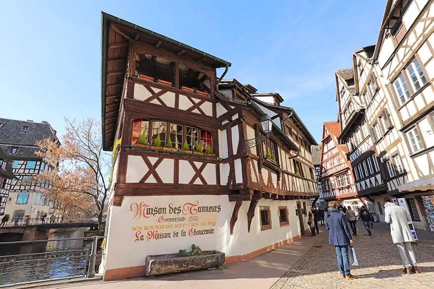 Maison des tanneurs in La Petite France district Strasbourg