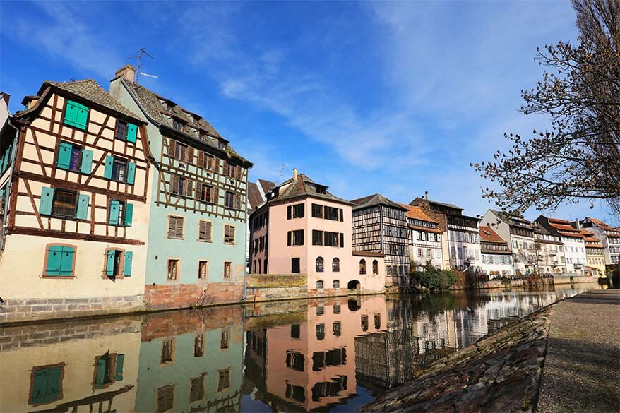 Colourful buildings at La Petite France district Strasbourg