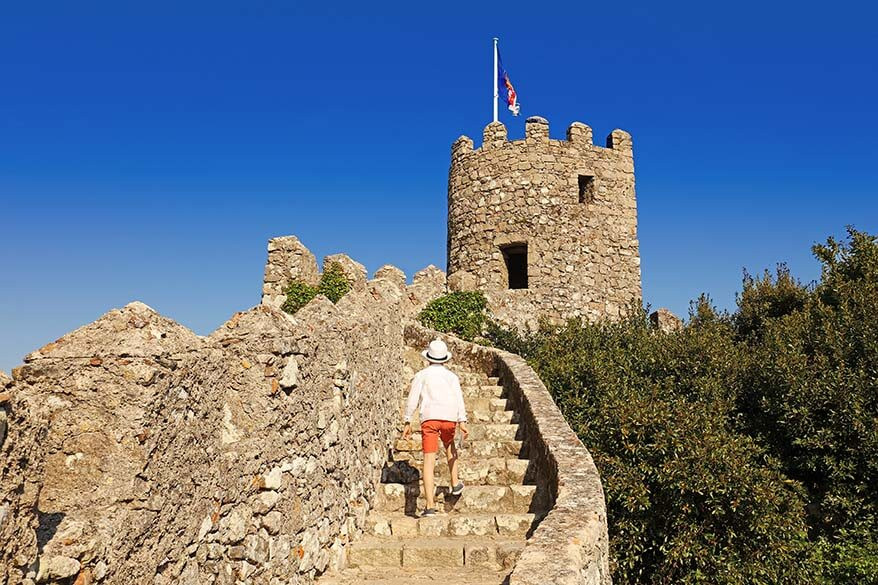 Exploring the Castle of the Moors in Sintra Portugal with kids