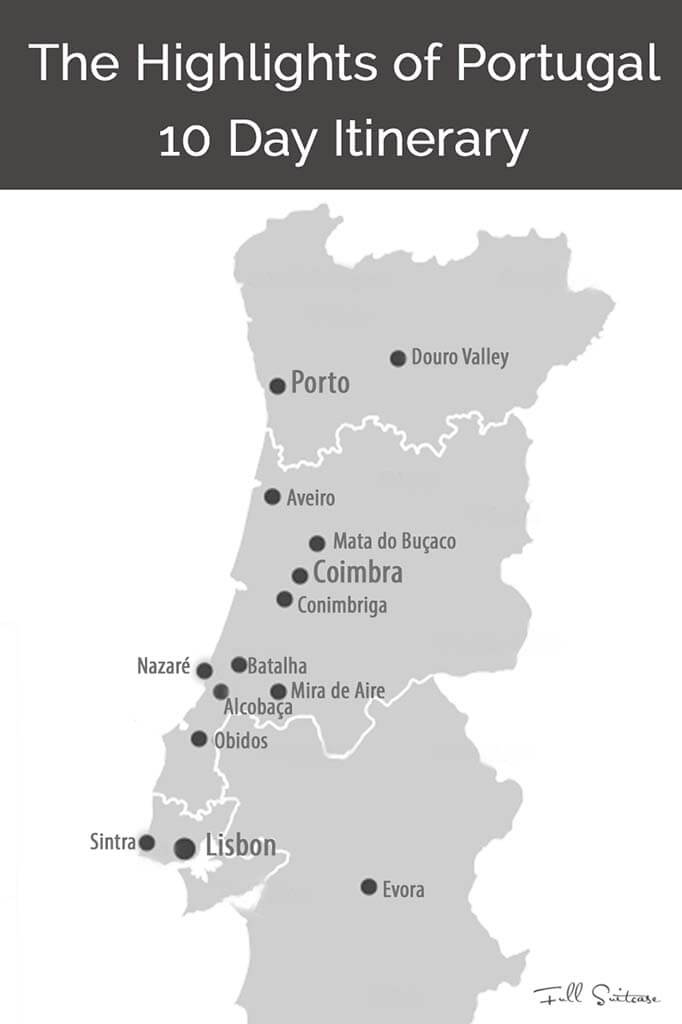 Days In Portugal Trip Itinerary From Lisbon To Porto - Portugal map obidos