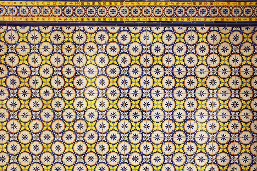 Portuguese azulejos tiles in Lisbon
