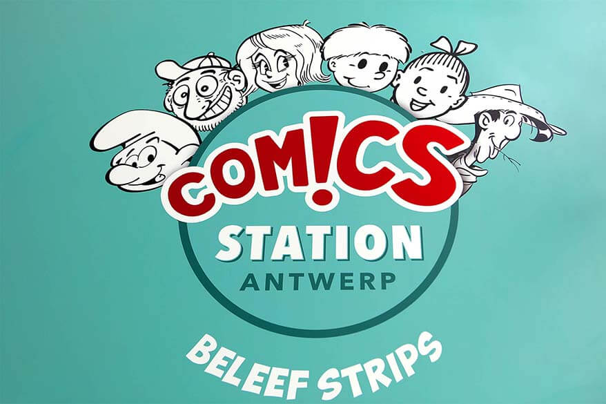 Visit new indoor theme park Antwerp Comics Station with kids