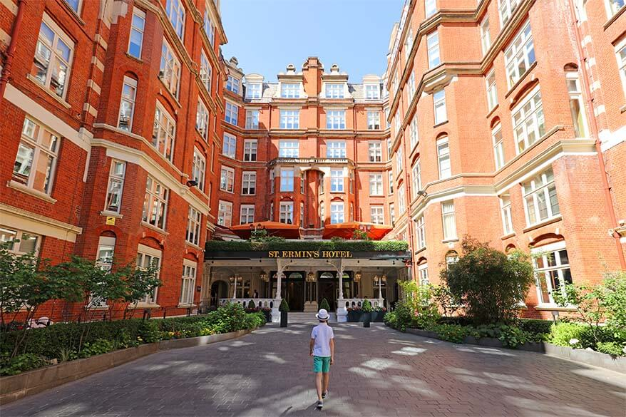 Afternoon tea at St Ermin's Hotel London with kids