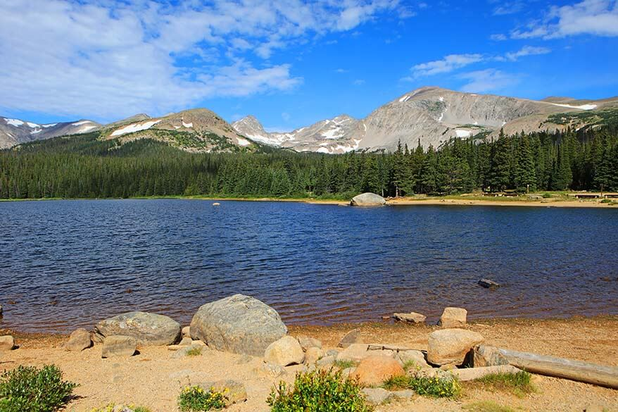 Brainard Lake on Peak to Peak Highway in Colorado