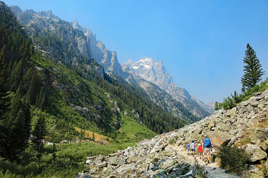 Family U.S. road trip - hiking in Grand Teton National Park