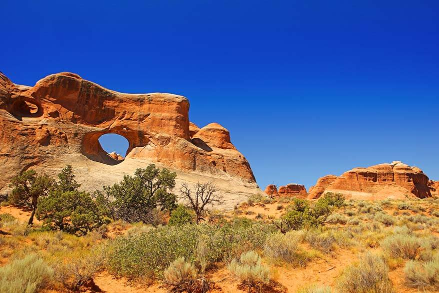 Tunnel Arch in Arches National Park Utah