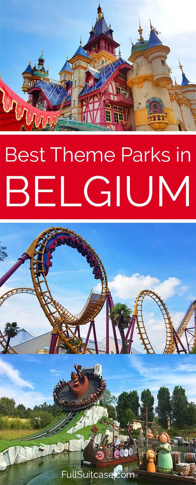 Complete list of the very best theme parks in Belgium- amusement parks, best rides, animal parks and more..