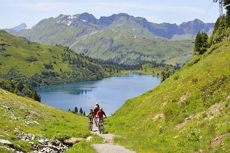 Mountainbiking at Engstelnalp - Jochpass near Trubsee in Switzerland