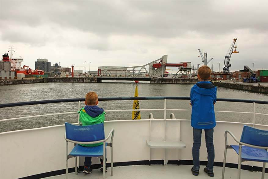 Port of Antwerp boat tour is nice to do for families with kids as well