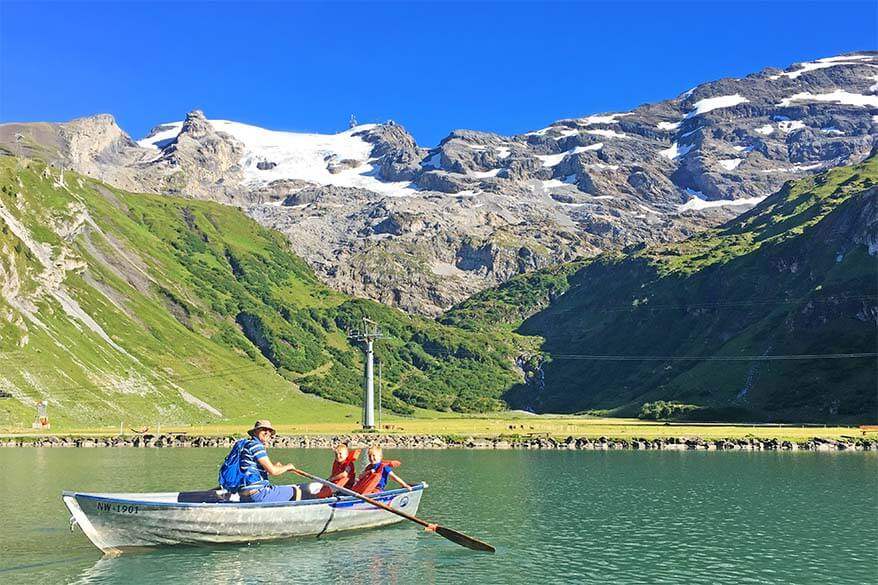 Rowboats at Trubsee are fun for all ages