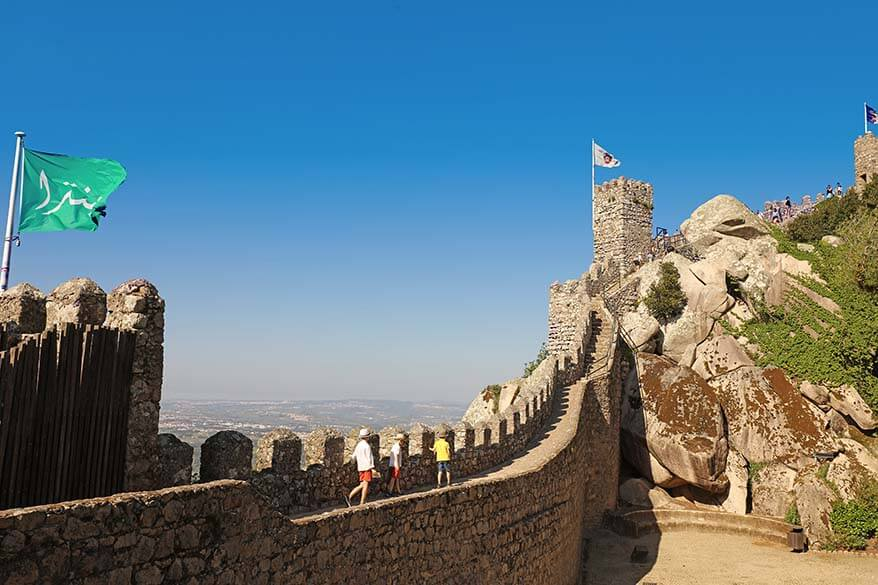 The Moorish Castle is not to be missed when in Sintra Portugal