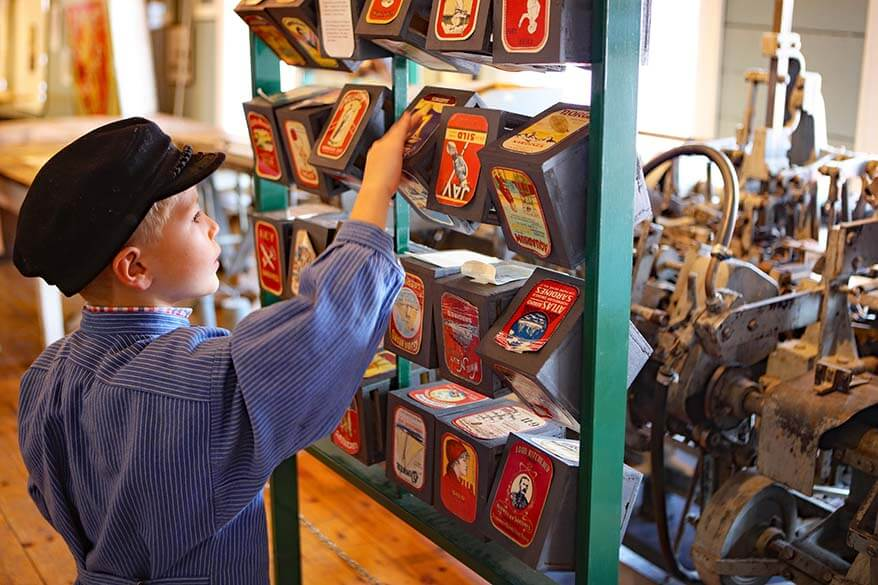 Visit The Norwegian Canning Museum in Stavanger with kids