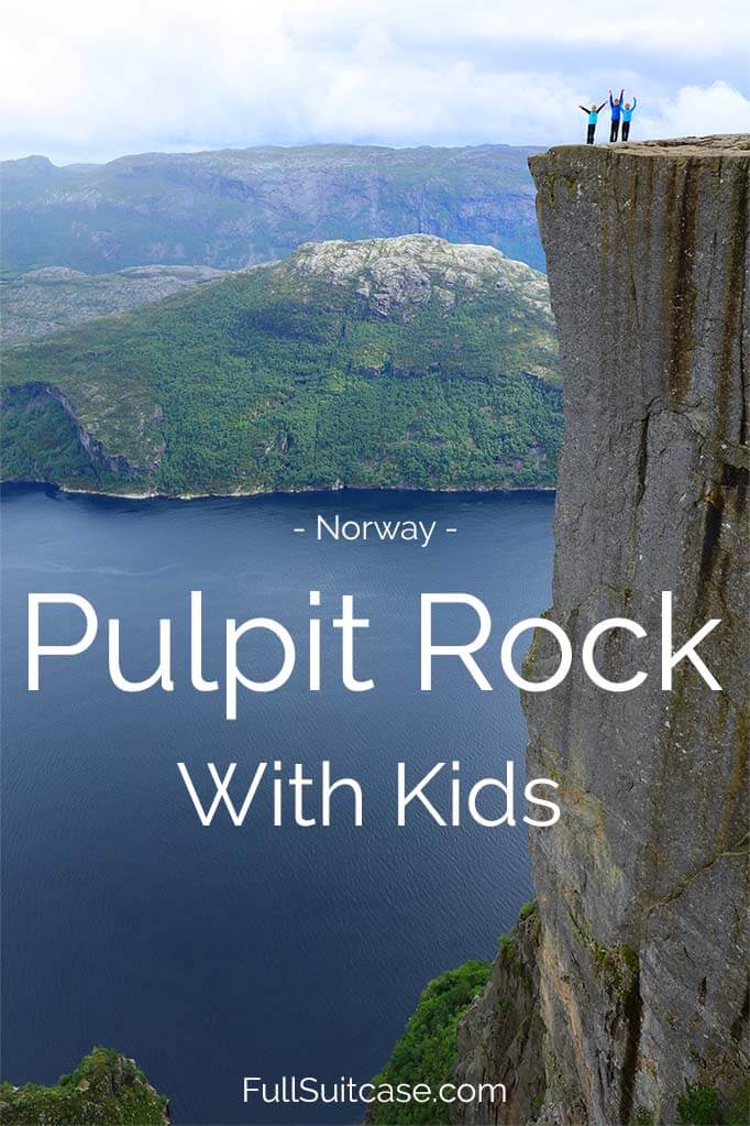 Hiking to the Pulpit Rock with kids. #Preikestolen at the Lysefjord in #Norway