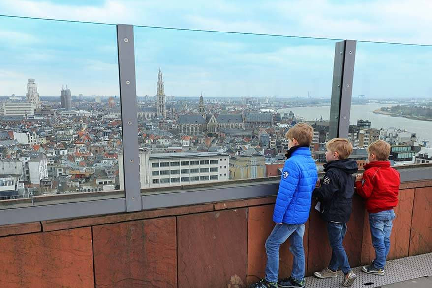 MAS rooftop is a good place to take your kids to when visiting Antwerp