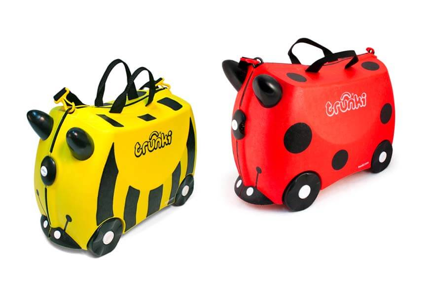 Trunki ride-on suitcase is one of the best carry-on luggages for young kids