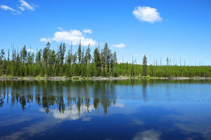 Ice Lake in Yellowstone National Park