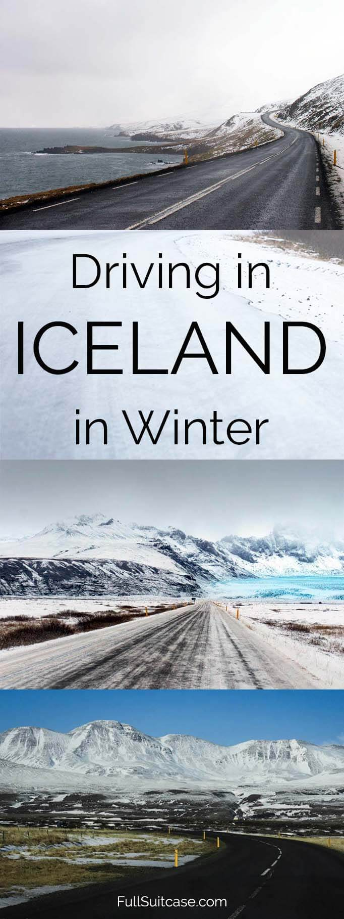 Driving in Iceland in winter months - along the Ring Road from October through April #Iceland