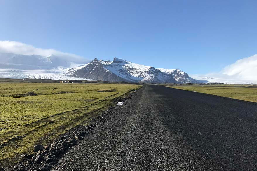 Driving in Iceland - the roads in March