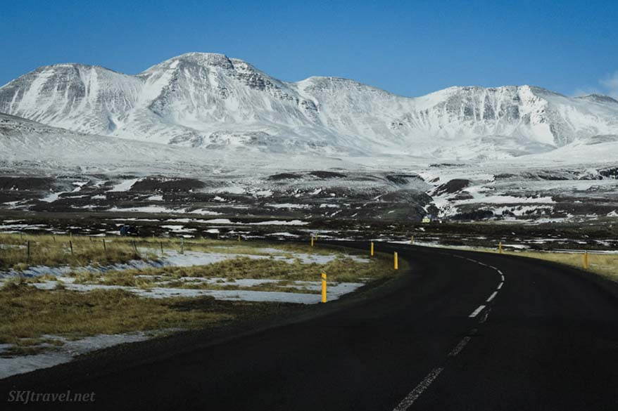 Iceland winter drive in March