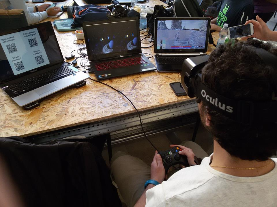 StarworkGC - Starwork Game Creators developing and testing a VR title using the Oculus Rift