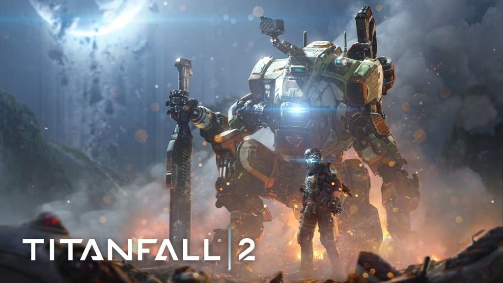 Titanfall 2 logo with artwork