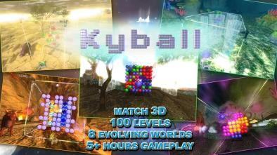 Kyball logo and game features