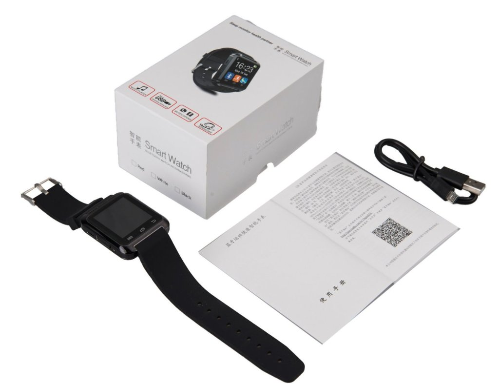 EasySMX Smart Watch box and contents emptied