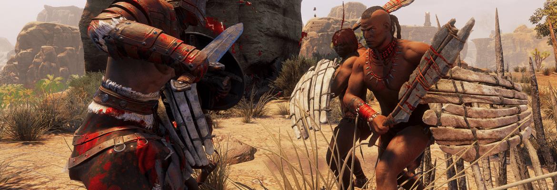 Funcom's Conan Exiles players battling