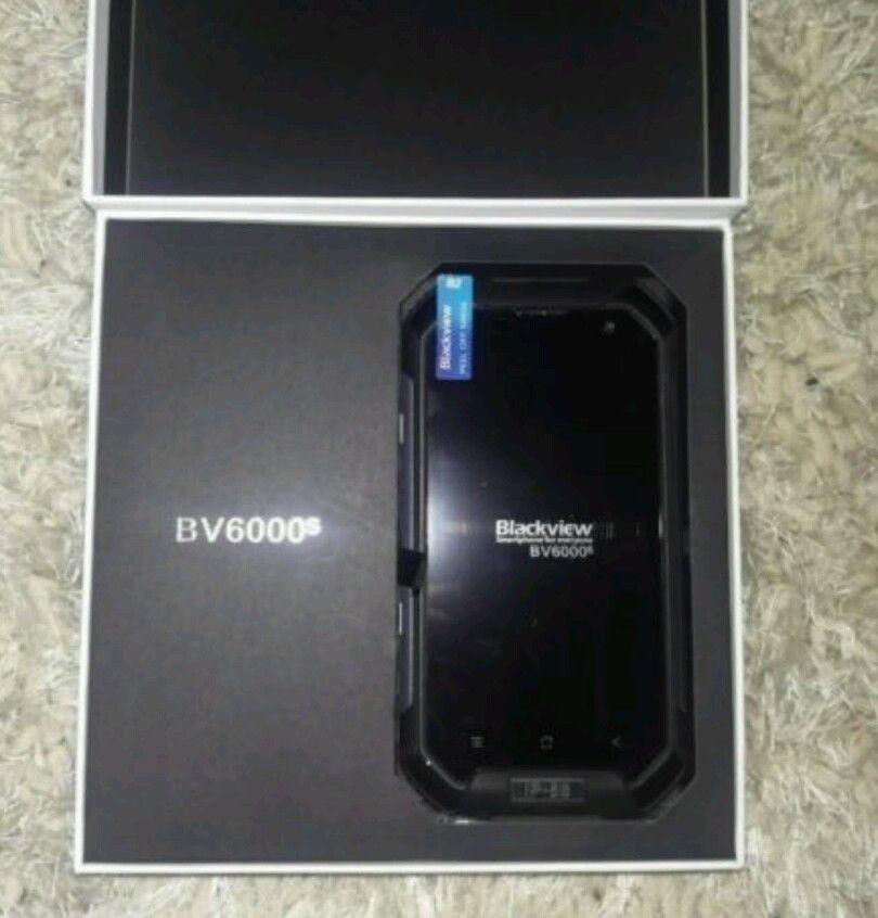 Blackview BV6000s box opened revealing phone inside