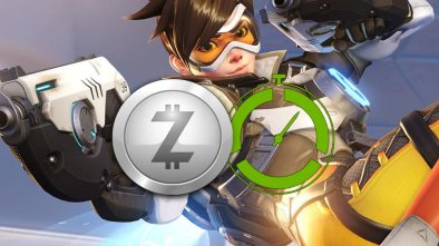 Razer zSilver cryptocurrency with Overwatch in the background