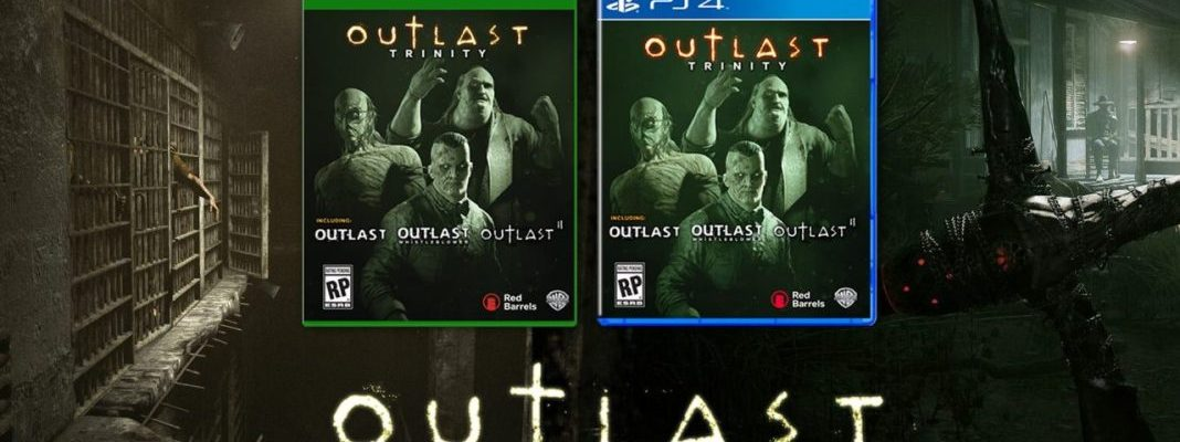 Outlast Trinity showing game versions for both Xbox One and PS4