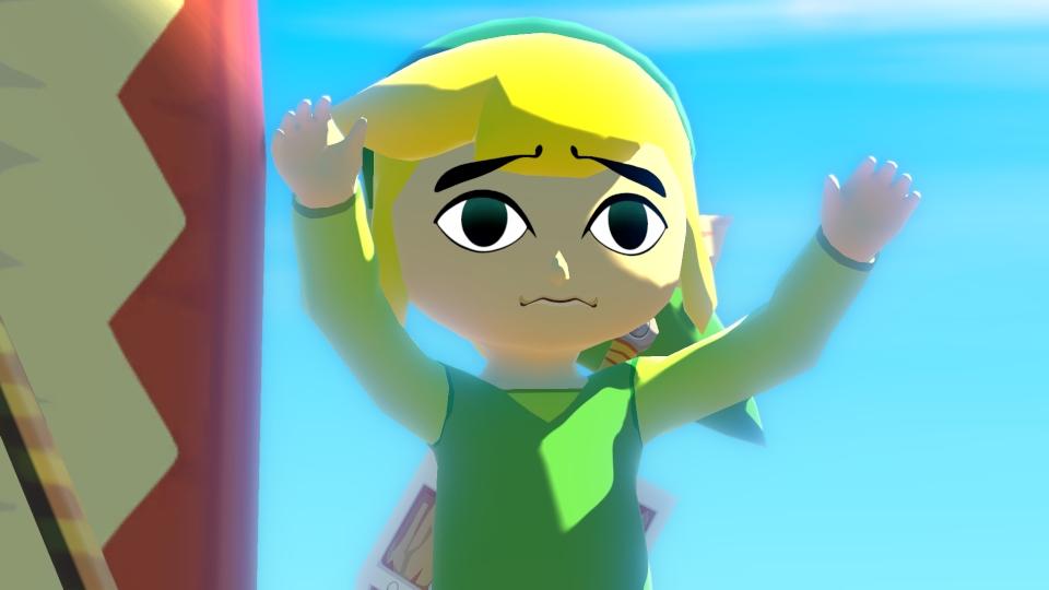 A depressed looking Link