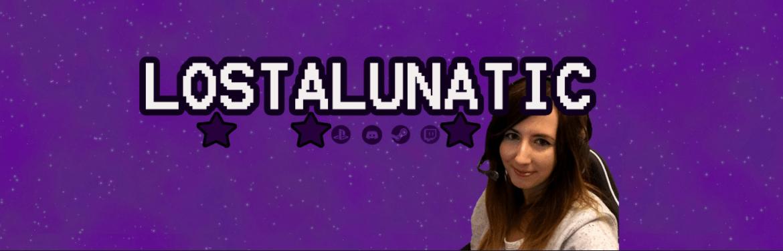 Lustlunatic Twitch Streamer Banner