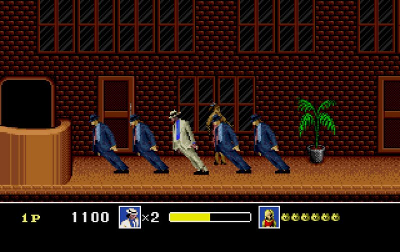 Gameplay from Michael Jackson's Moonwalker on the Mega Drive