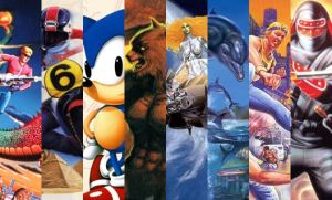 A mixture of images from classic SEGA titles