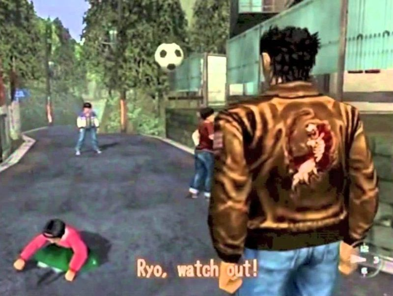 Gameplay from Shenmue on the SEGA Dreamcast