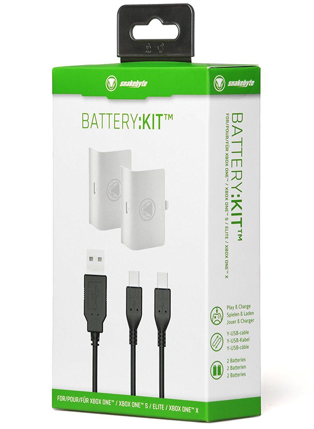 Boxed Snakebyte Xbox One Battery Kit in white