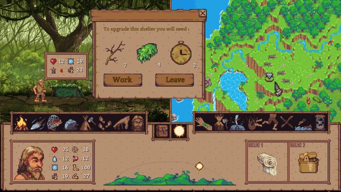 Screenshot of gameplay from Wanderers' game Island