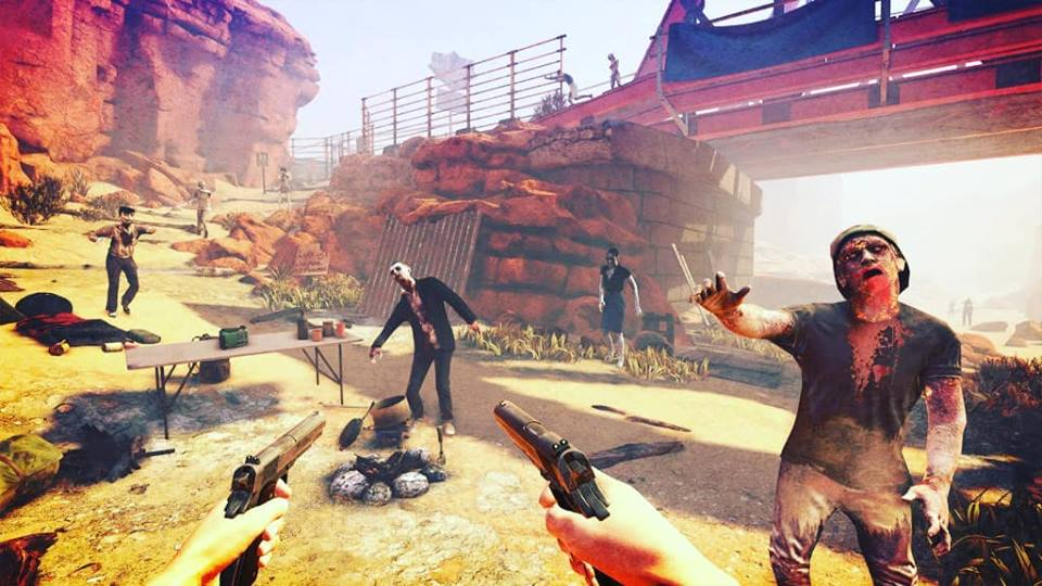 In-game screenshot of Arizona Sunshine played on PC using a HTC Vive