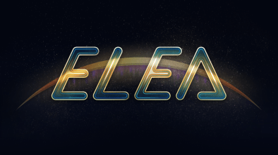 Elea logo on black background