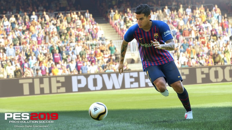 PES 2019 Coutinho running with the ball
