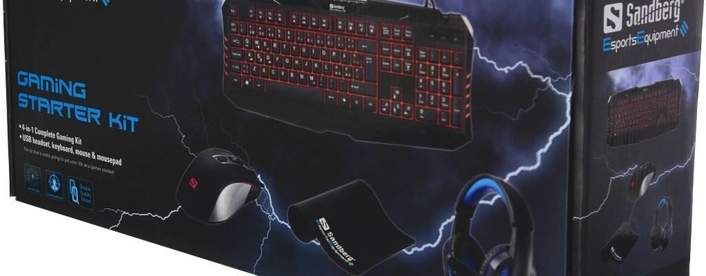 Sandberg Gaming Starter Kit boxed up