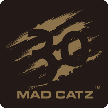 Mad Catz 30th anniversary logo celebrating 30 years of gaming innovation