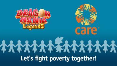 Dragon Mania Legends CARE partnership logo
